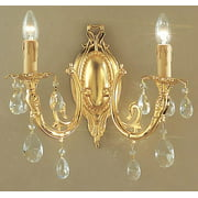 16 in. Princeton Wall Sconce in Gold Finish (No Crystal)