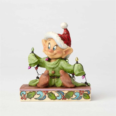 Jim Shore Disney Traditions Dopey with Christmas Lights 4057938