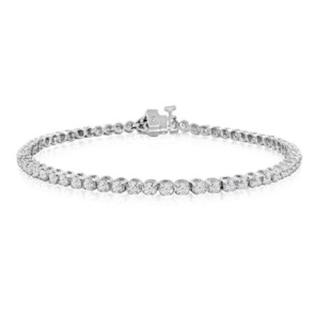 8 Inch 2 1 4 Carat Diamond Tennis Bracelet In 14k White Gold