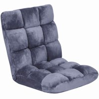 Best Choice Products 14-Position Memory Foam Cushioned Floor Gaming Chair - Lilac Gray