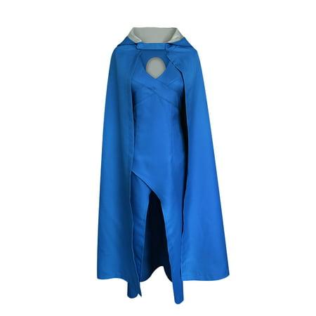 KINOMOTO Daenerys Targaryen Costume Cosplay Top Design Halloween Dress Cloak (XL)