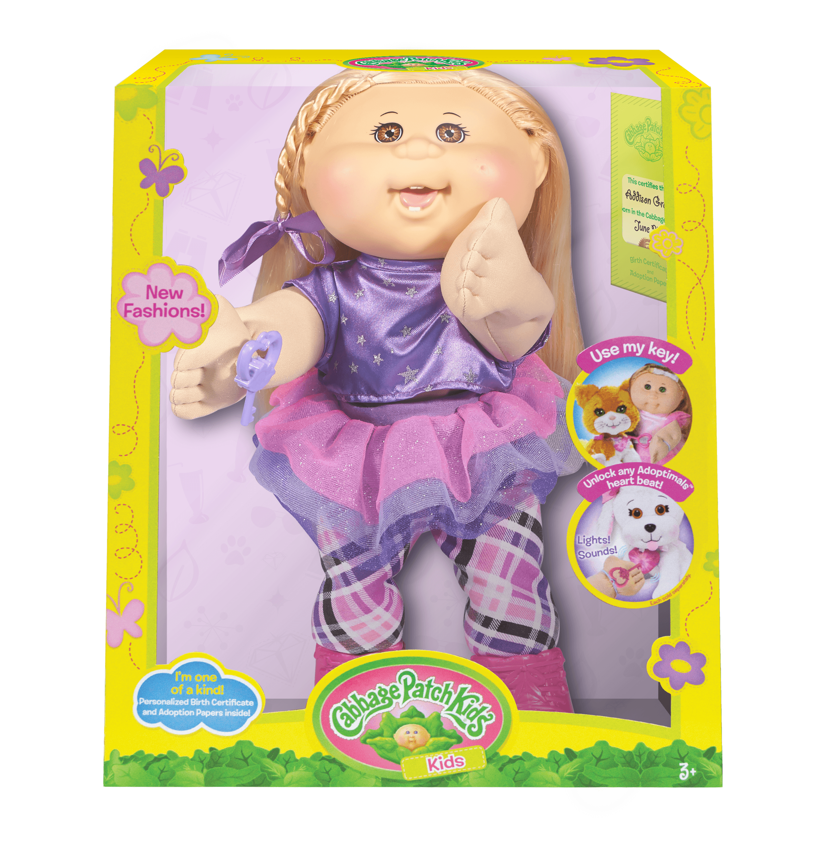 Cabbage Patch Kids Rocker Doll, Blonde Hair Brown Eye Girl by Wicked Cool Toys