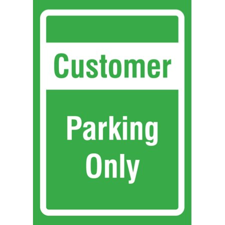 - Customer Parking Only Sign - Business Parking Lot Signs - Aluminum Metal