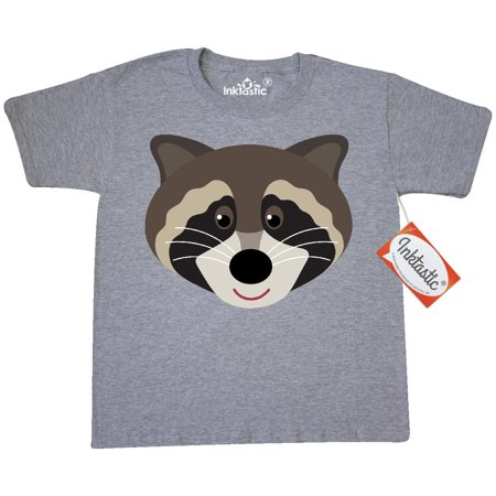 Inktastic Raccoon Animal Face Youth T Shirt Animals Forest Cute Mascot Funny Tee
