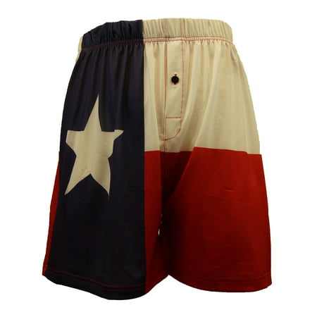 Brief Insanity Men's Boxer Shorts Underwear Texas Flag Print (Texas Mens Underwear)