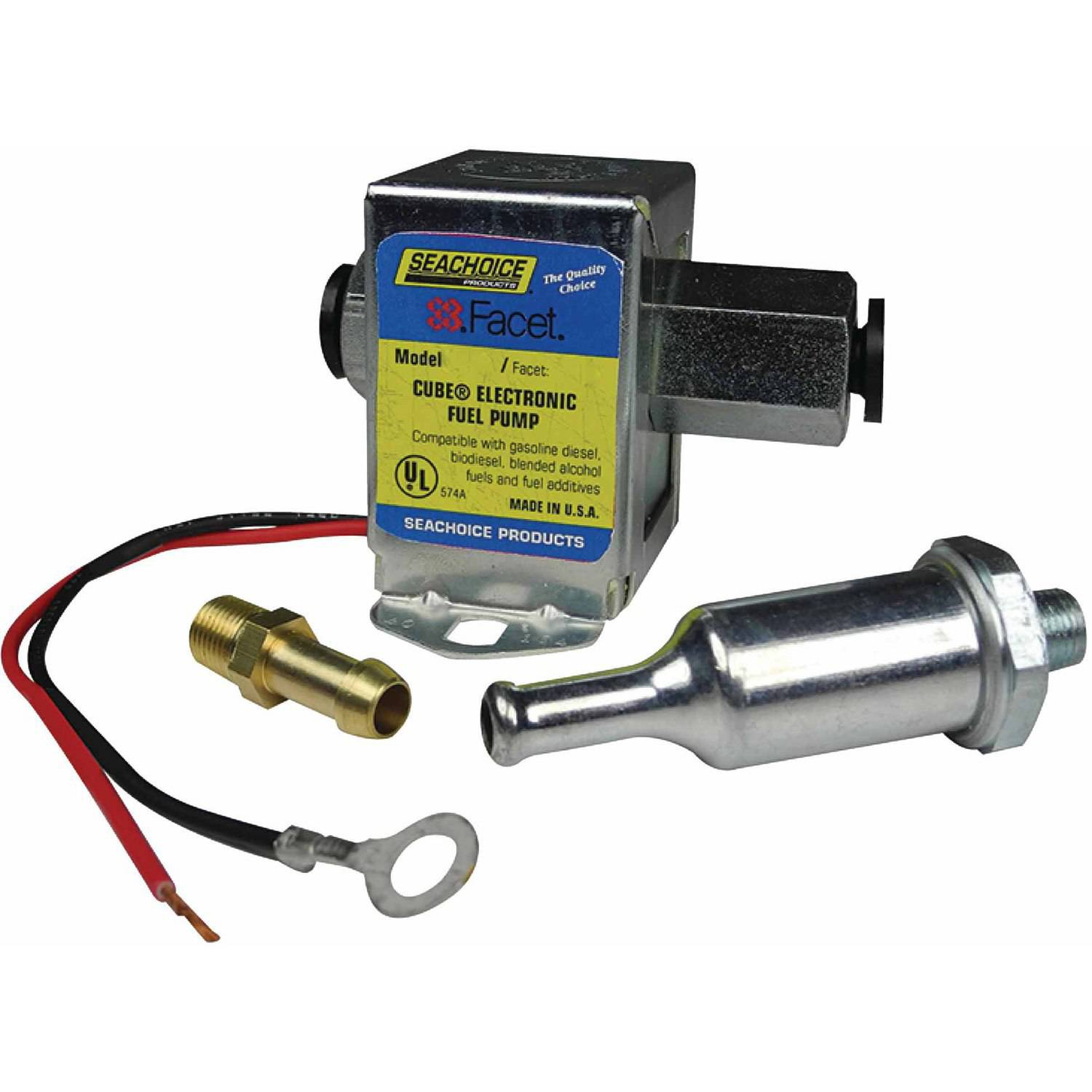 Click here to buy Seachoice 12V Cube Electronic Fuel Pump Kit by Seachoice Products.