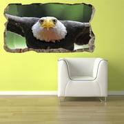 Startonight 3D Mural Wall Art Photo Decor Beautiful Eagle Amazing Surprise Wall Mural Wallpaper Animals Large 47.24 ?? By 86.61 ??