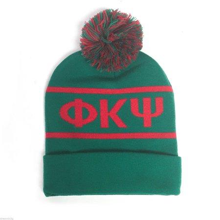 Phi Kappa Psi Knit Beanie Pom Winter Hat (Winter Themed Prom)