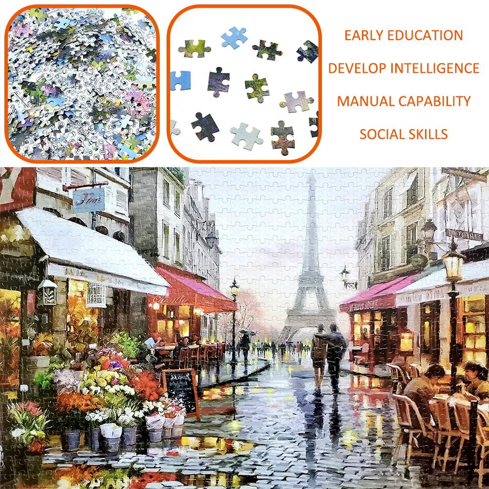Educational 1000 Piece Jigsaw Puzzles Paris Flower Street Adults Kids Puzzle Toy