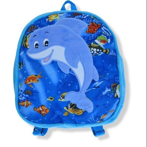 "Dolphin - 11"" Kids Blue Backpack"