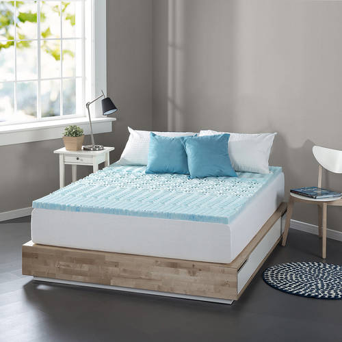 "Spa Sensations Zoned Fusion Gel Memory Foam 1"" Mattress Topper  Available in multiple sizes"