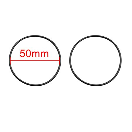 10pcs Black NBR70 O-Ring Washer Sealing Gasket for Automotive Car 50 x 1.8mm - image 1 of 2