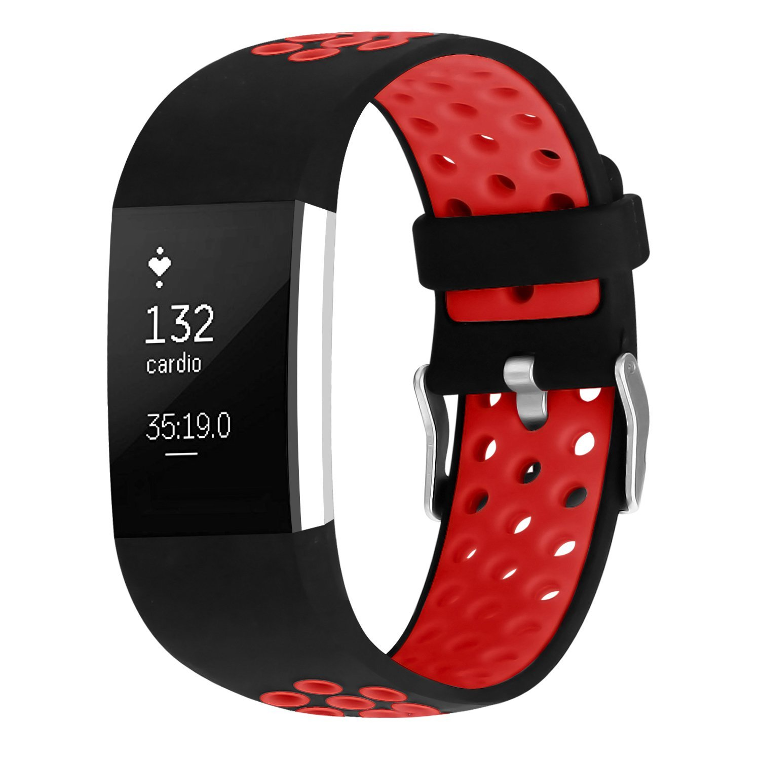 iGK For Fitbit Charge 2 Bands Soft Silicone Adjustable Replacement Sport Strap for Fitbit Charge 2 Smartwatch Fitness Wristband