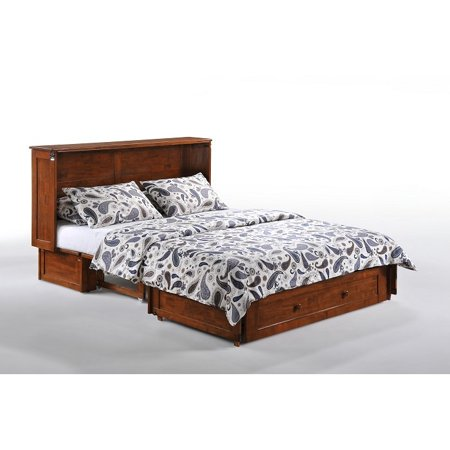 Night And Day Clover Cherry Murphy Cabinet Bed With Queen