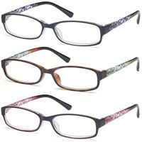 ea47b9c09c9 Product Image GAMMA RAY Readers 3 Pack of Thin and Elegant Womens Reading  Glasses with Beautiful Patterns for