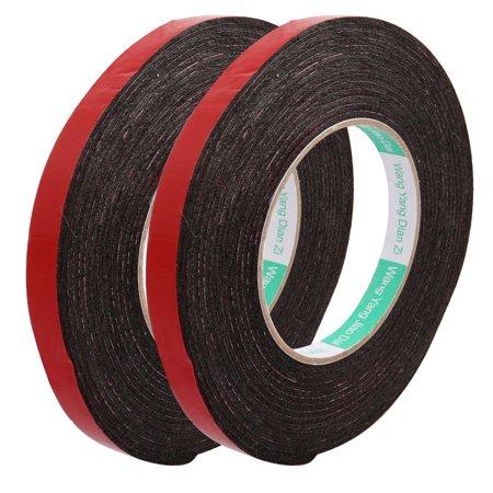 Double Stick Foam Tape (2Pcs 12mmx2mm Double Sided Adhesive Sticker Glue Strip DIY Sponge Foam Tape)