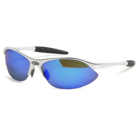 c4c83c65585 Octo8 - Octo8 Eco Master Matte Silver Polarized Sport Sunglasses -  Walmart.com