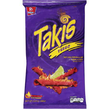 Barcel Takis Fuego Hot Chili Pepper & Lime Corn Snacks - 9.9oz