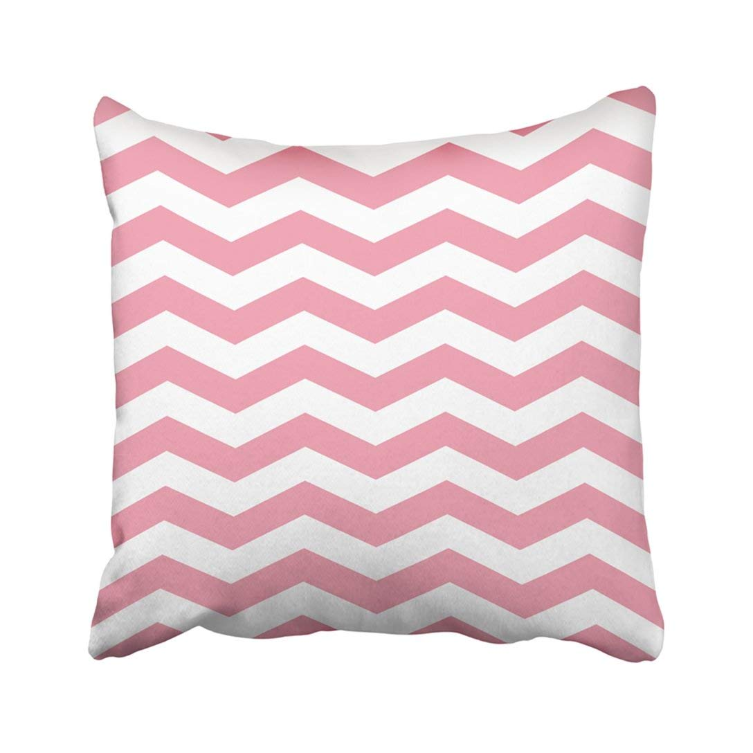 BPBOP Pink Chevron Zigzag Geometric White Kids Abstract Baby Children Classic Classical Endless Pillowcase Throw Pillow Cover Case 20x20 inches