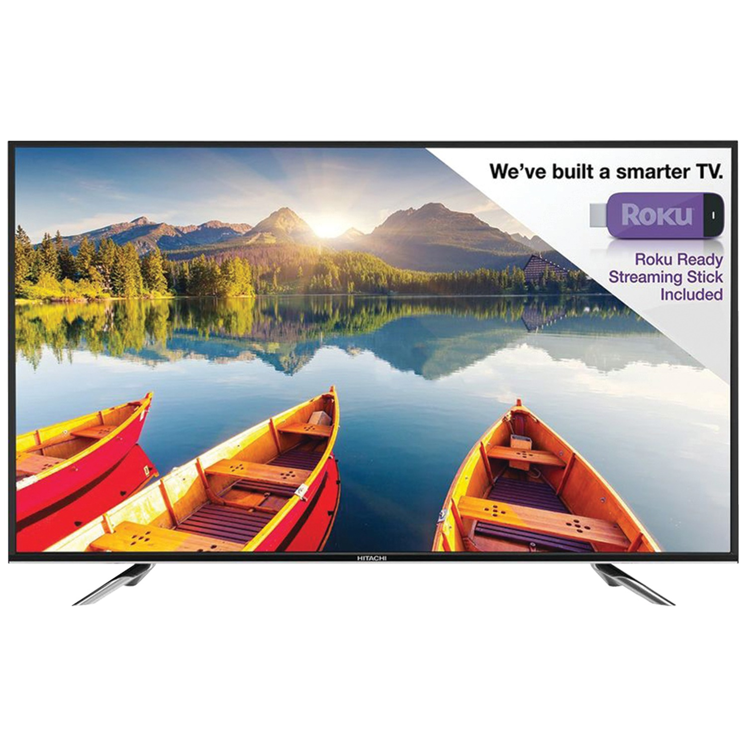 Hitachi LE55A6R9 Alpha Series LED HDTV with Roku, Black -...