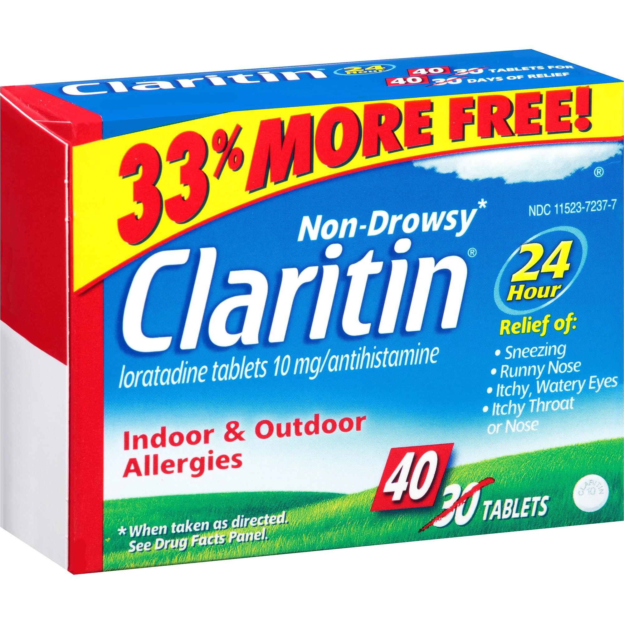 MSD Consumer Care Claritin  Indoor & Outdoor Allergies, 40 ea