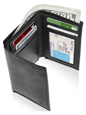 77890f0aa47e Product Image Genuine Leather Trifold Wallets For Men - Mens Trifold Wallet  With ID Window RFID Blocking