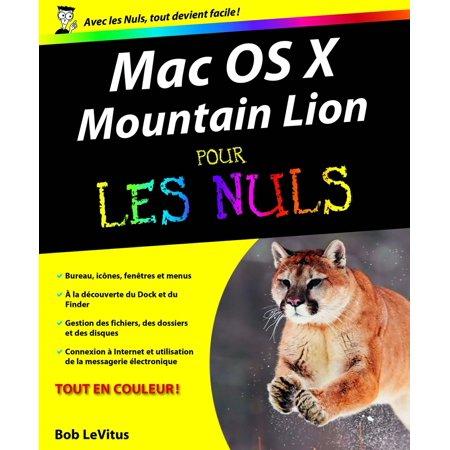 Mac OS X Mountain Lion Pour les Nuls - eBook