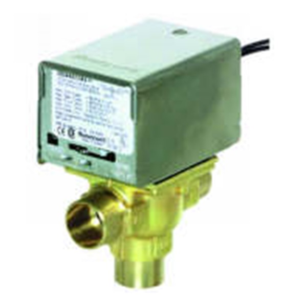 Honeywell V8044E1011 3/4 inch Two-Position Diverting Zone Valve, Sweat, 7 Cv, Aux Switch