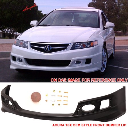 Compatible with 06-08 Acura TSX OE Factory Style Front Bumper Lip Spoiler - Urethane PU