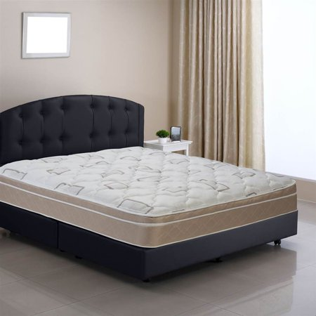 sleep comfort back aid pillow top twin size innerspring mattress bed in a box twin. Black Bedroom Furniture Sets. Home Design Ideas