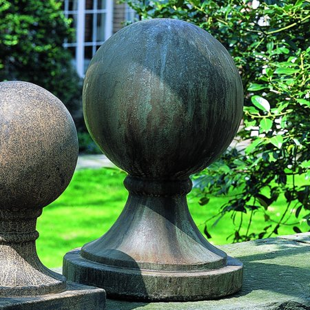 - Campania International Large Round Sphere Cast Stone Garden Statue Base