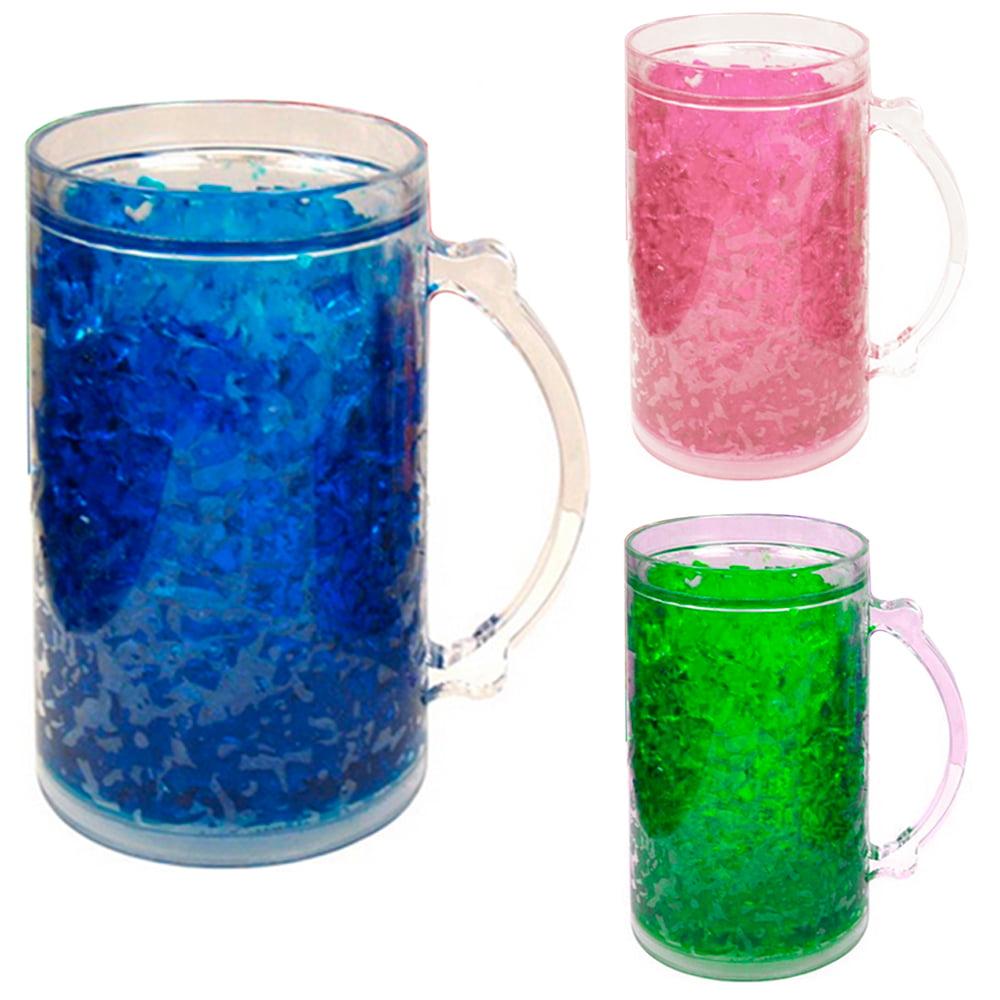 Double Wall Gel Freezer Mug 28 Oz Acrylic Tumbler Beverage