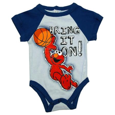 - Sesame Street Elmo Bring It On Basketball Jim Henson Cartoon Baby Snapsuit