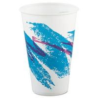 Solo Cup Company Jazz Waxed Paper Cold Cups, 12oz, Tide Design (SCCR12NJ)