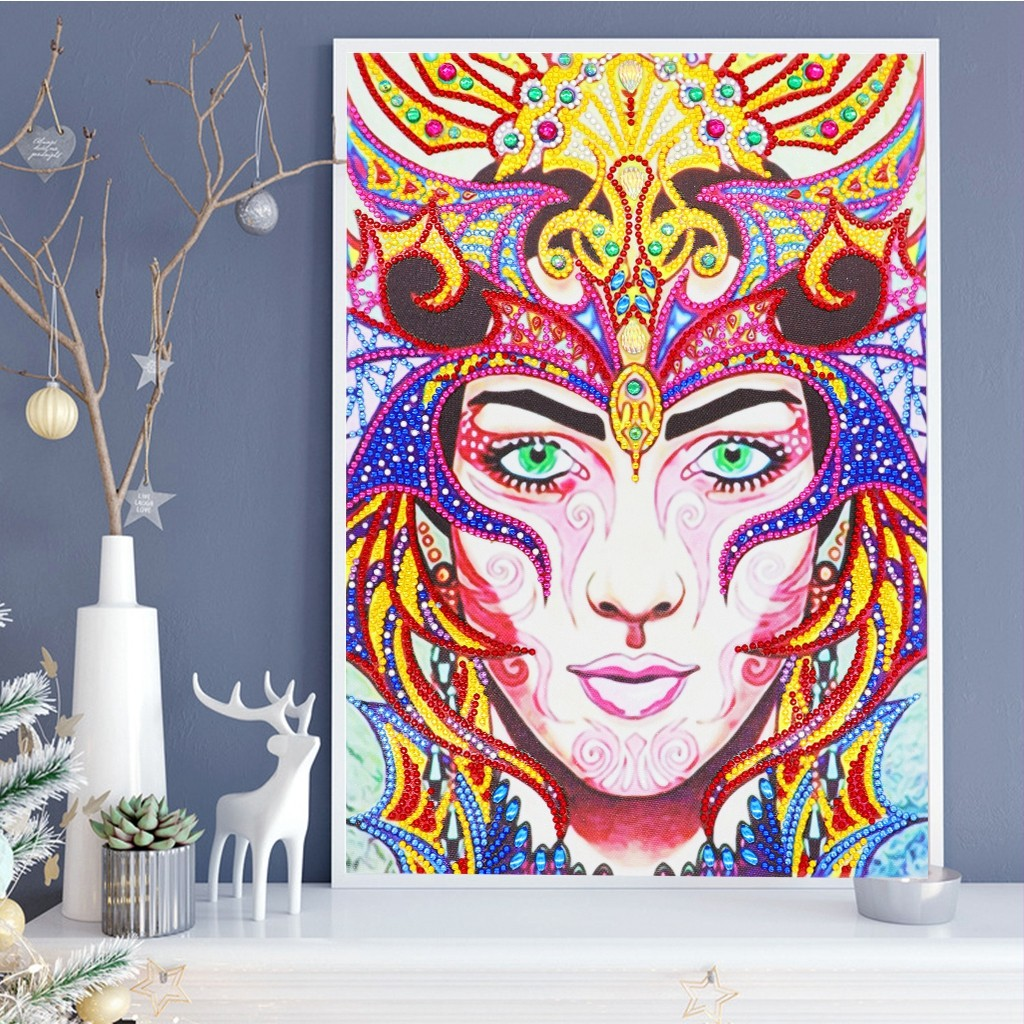 Special Shaped Diamond Painting DIY 5D Partial Drill Cross Stitch Kits Crystal C