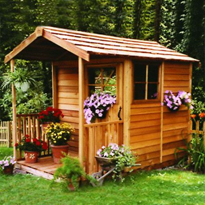Cedar Shed 6 x 12 ft. Gardeners Delight Potting Shed