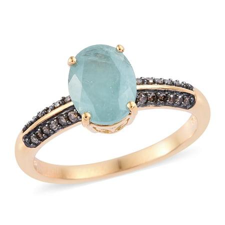 Diamond Bridal Anniversary Ring 925 Silver Vermeil Yellow