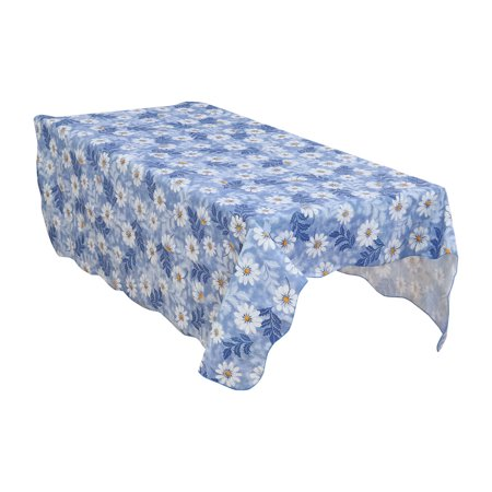 Unique Bargains Home Picnic Daisy Pattern Oil-proof Tablecloth Table Cloth Cover Blue 71