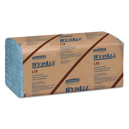 WypAll* L10 Windshield Towels, 1-Ply, 9 1/10 x 10 1/4, 1-Ply, 224/Pack, 10 Packs/Carton