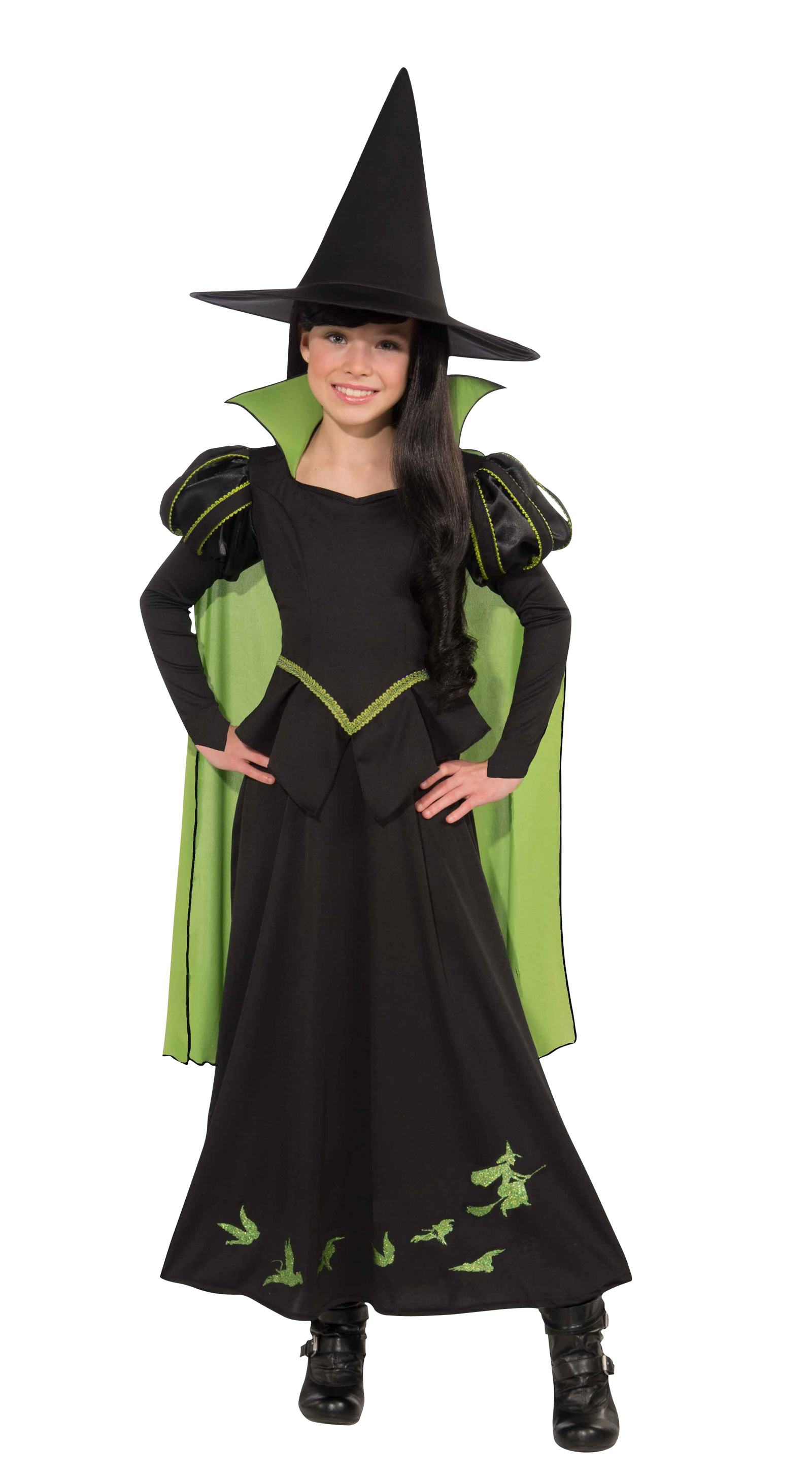 M Women Wicked Witch Costume Black UK Size 12-14