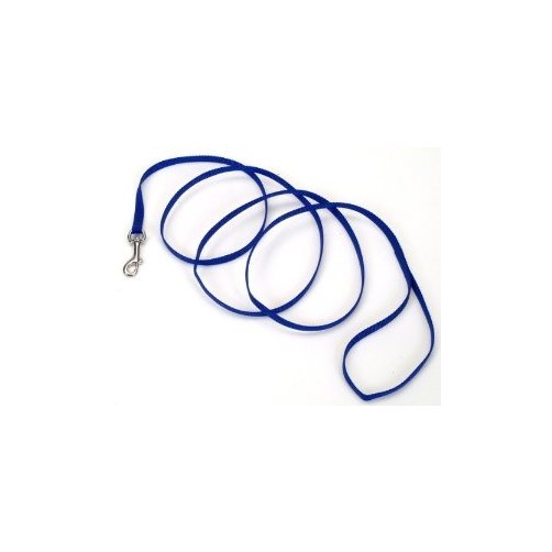 """Color 0.4/"""" W x 48/"""" D Nylon Puppy Leash Size Blue"""