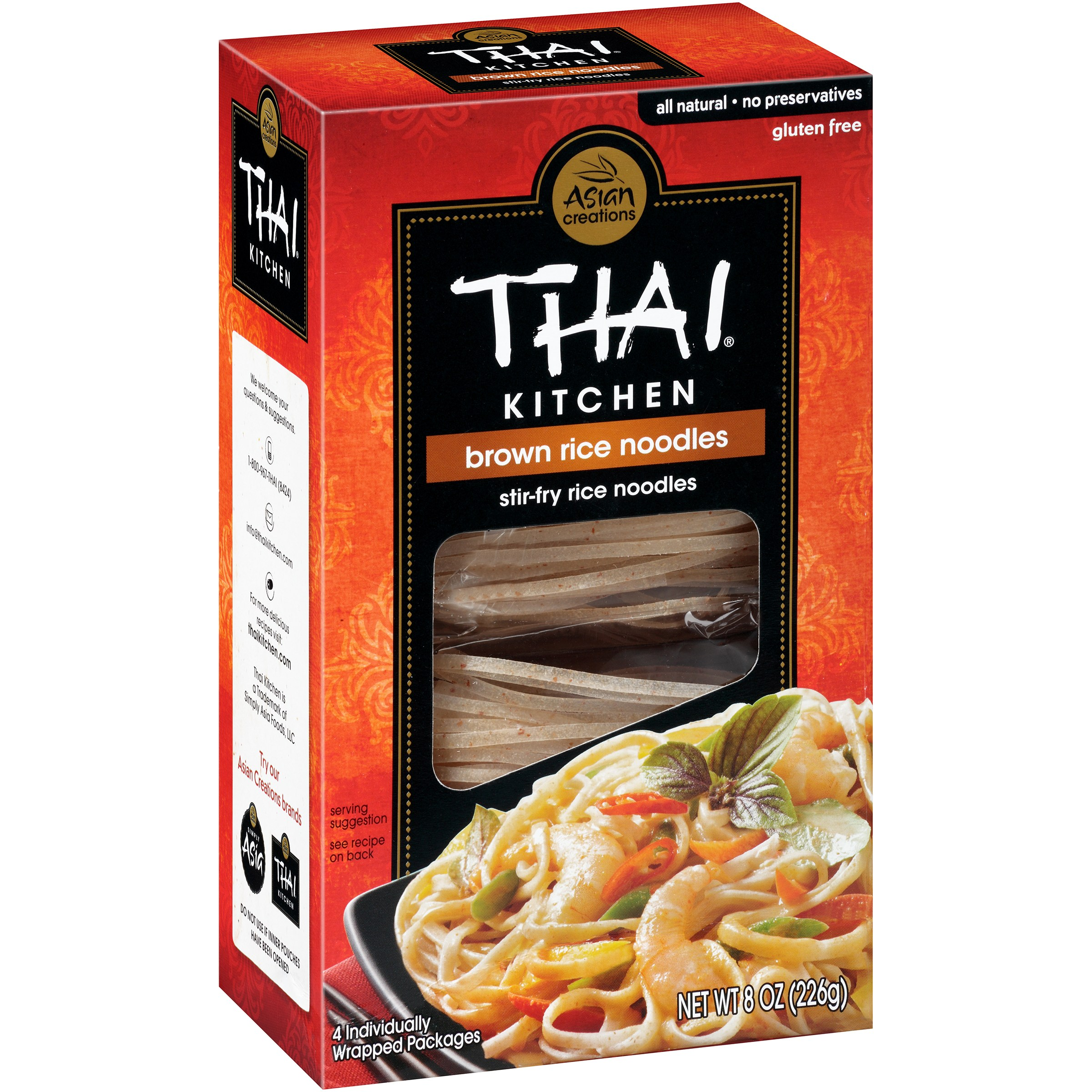 Thai Kitchen thai kitchen asian creations brown rice stir-fry noodles, 8 oz