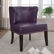 Best Master Furnitures Contemporary Faux Leather Living Room Accent Chair Set Of 2 Multiple