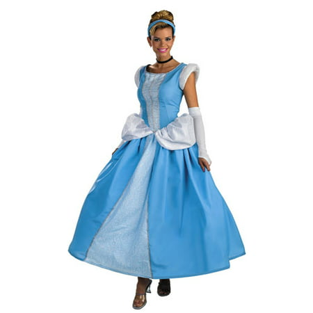 Disney Adult Cinderella Prestige Halloween Costume 12-14](Disney Cinderella Costumes)
