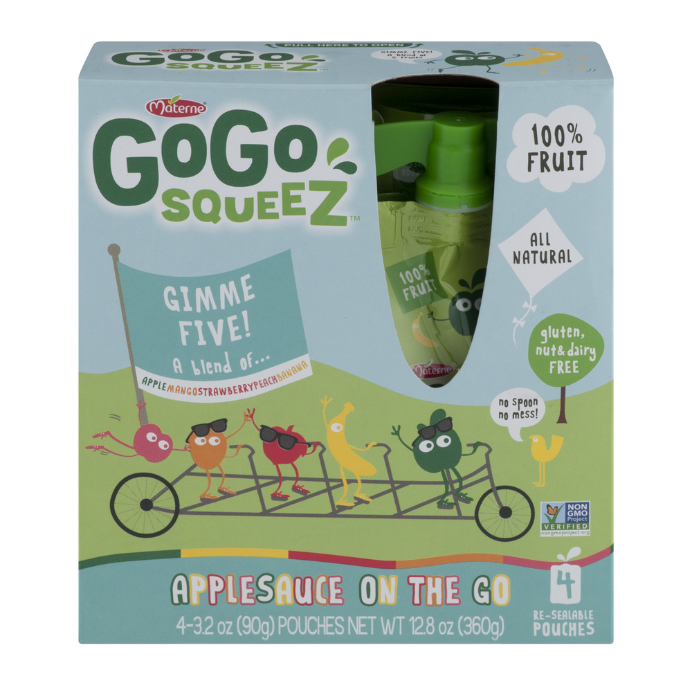 Materne GoGo Squeez Applesauce On The Go - 4 CT