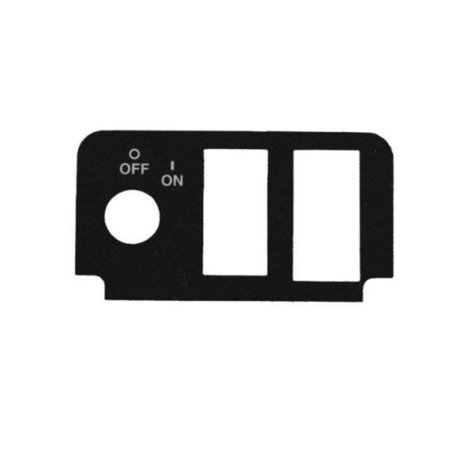 Key Switch Decal with 3 Cut-outs for EZGO TXT Golf Carts 2000+