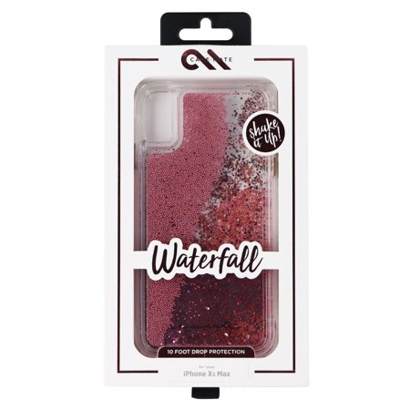 wholesale dealer cea05 86436 Case-Mate Waterfall Liquid Glitter Case for Apple iPhone XS Max - Rose Gold