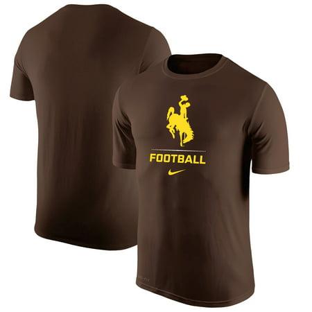- Wyoming Cowboys Nike Basketball Sport Legend Performance T-Shirt - Brown