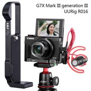 UURig R016 Vlog Microphone Cold Shoe Extension Stand for Canon G7X Mark III Third Generation