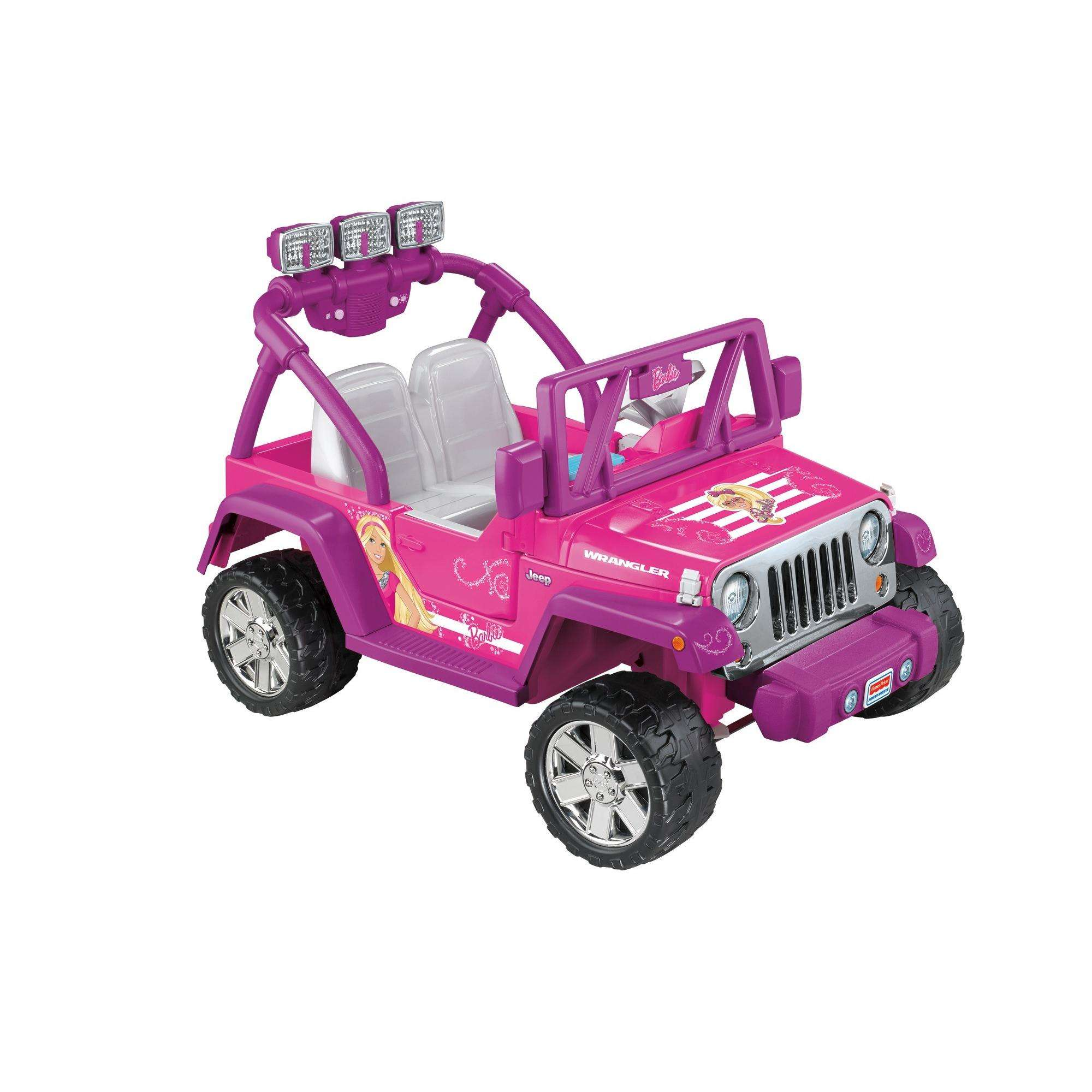Power Wheels Barbie Deluxe Jeep Wrangler 12-Volt Battery-Powered ...